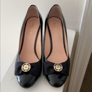 Kate Spade NY Black patent leather wedge pumps 9B